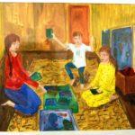 """""""Мы вместе"""": конкурс работ учеников художественного отделения, выполненных на ДО"""
